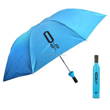 Pattern Design Gift Promotional Umbrella Wine Bottles Folding Sun Rain Umbrella