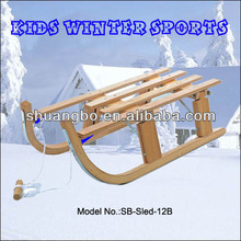 2016 Popular Foldable Snow Sleigh in Wood