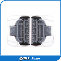 2 pcs/lot Female razor brands 5 blade cartridge private label shaving blade