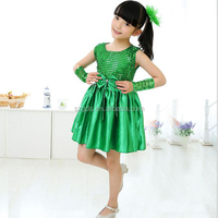 2017 New design dance costume for children sequin cute modern dance costumes for kids competition