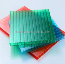 4mm/6mm/8mm/10mm greenhouse lexan twin-wall plasitc polycarbonate hollow sun sheet