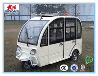 2016 new hot sale 800w closed electric passenger 3 wheeler trike for adults enclosed tpassenger tricycle