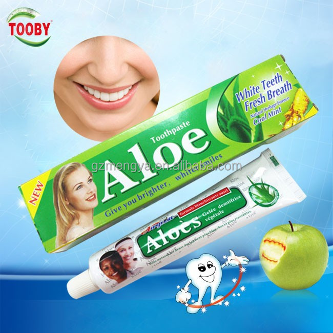 Aloe toothpaste free sample good quality dabur toothpaste