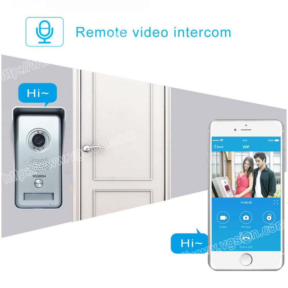720P Doorbell Intercom Surveillance Doorbell Wireless Ip Camera Home