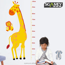 Giraffe kid 3d kids height measurement growth chart wall sticker decal for baby nursery kindergarten school home decor wallpaper