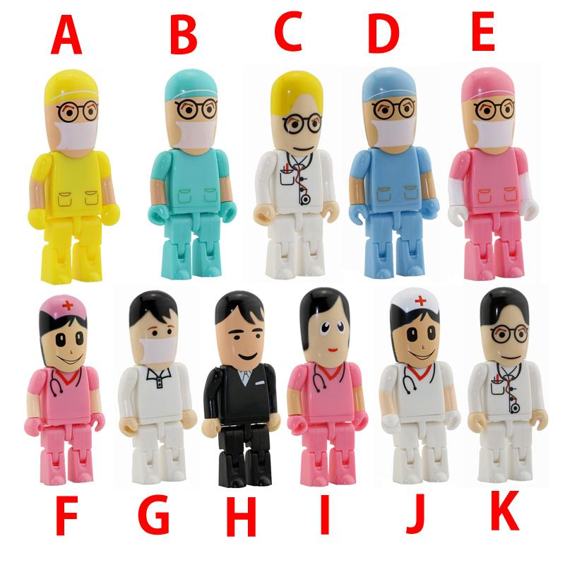 promotional gifts high speed New arrival Robot doctor shaped usb flash drive medical