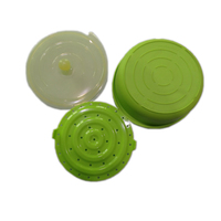 Kitchen Silicone Vegetable Steamer Food Veggie Steam Basket Microwaveable Cooker Green