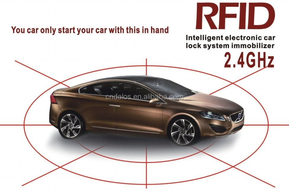 Newest Technology RFID 2.4Ghz transmitter auto security system car engine circuit power cut off immobilizer