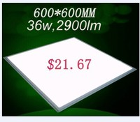Best price! $21.67 80lm/w ultra-thin isolated driver high quality 36w led panel 60x60