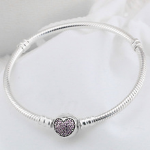 Latest 925 Silver Bracelet of charm snake chain clasp bangle bracelet for Fashion Bracelets