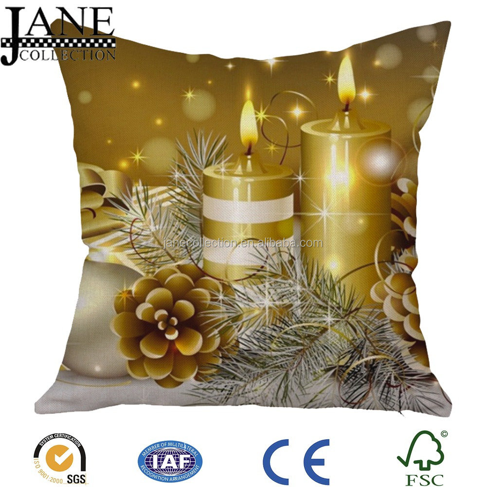 Happy christmas design 3D digital printed cushion covers pillow covers