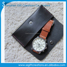 Customize handmade distressed leather travel pocket watch pouch