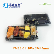 good price food grade disposable Plastic Sushi Container with clear Lid/sushi tray with lid
