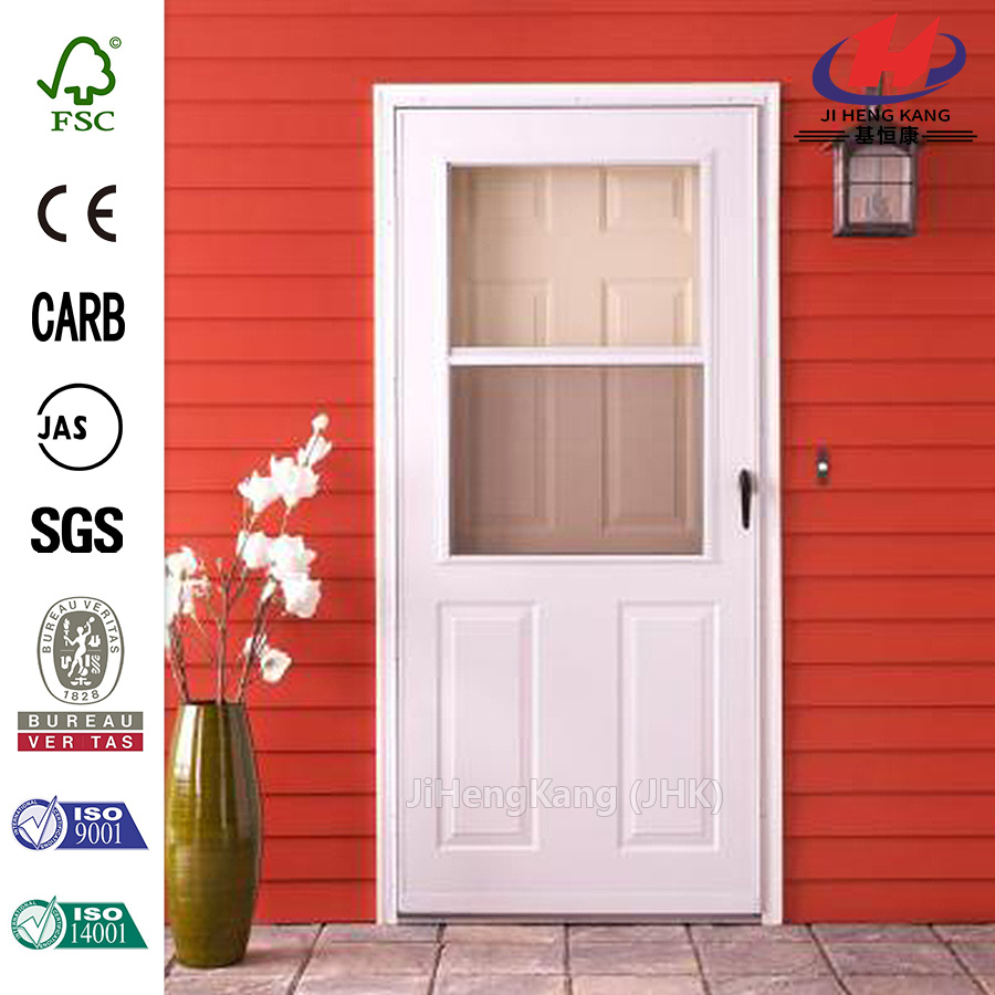 32 in. x 80 in. 200 Series White Traditional Storm Door