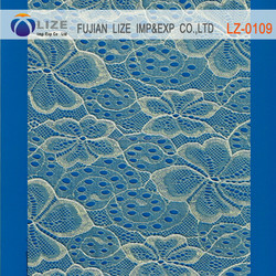 Best price crochet bridal lace fabric wholesale dubai lz-0109