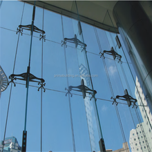 metal spiders for modular green glass curtain wall system for exhibition wall