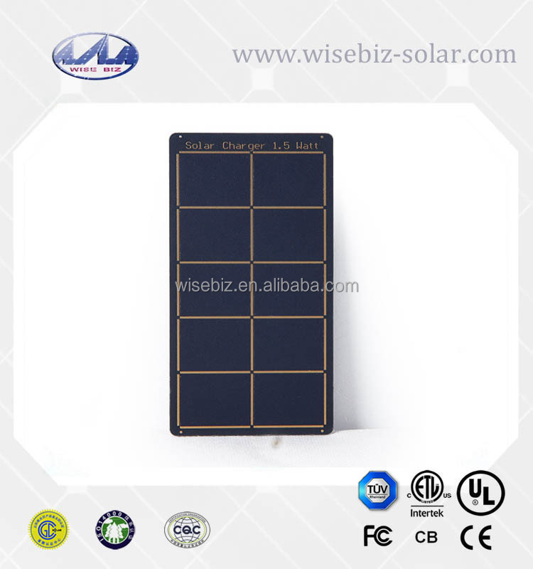 High efficiency sunpower flexible solar panels 1.5 watt for solar charge