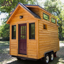 High class natural wood frame house,custom deluxe tiny frame house