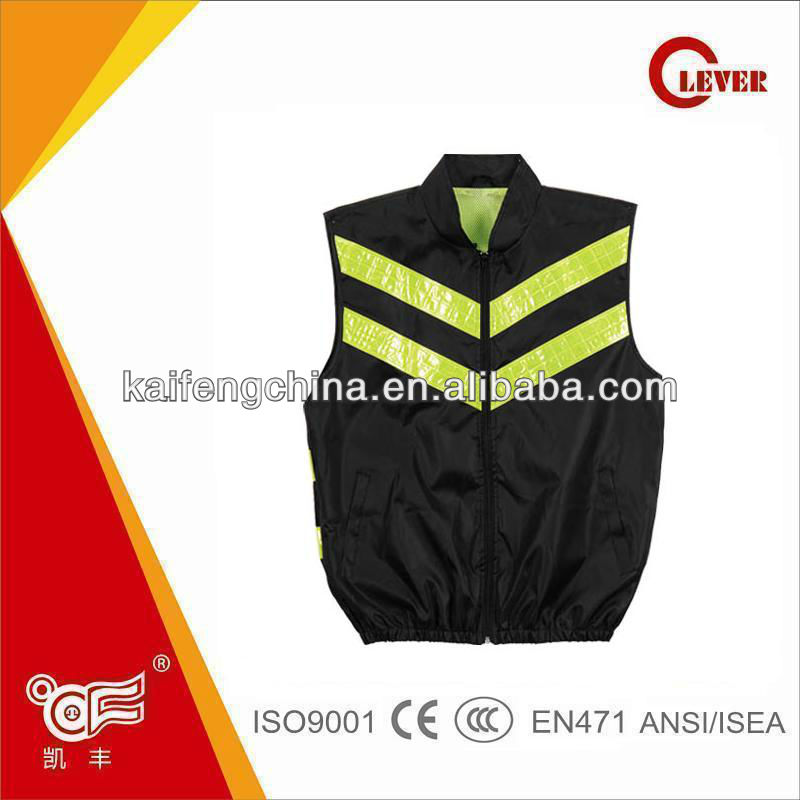 Hi vis led flashing reflecting vest with pocket KF-028