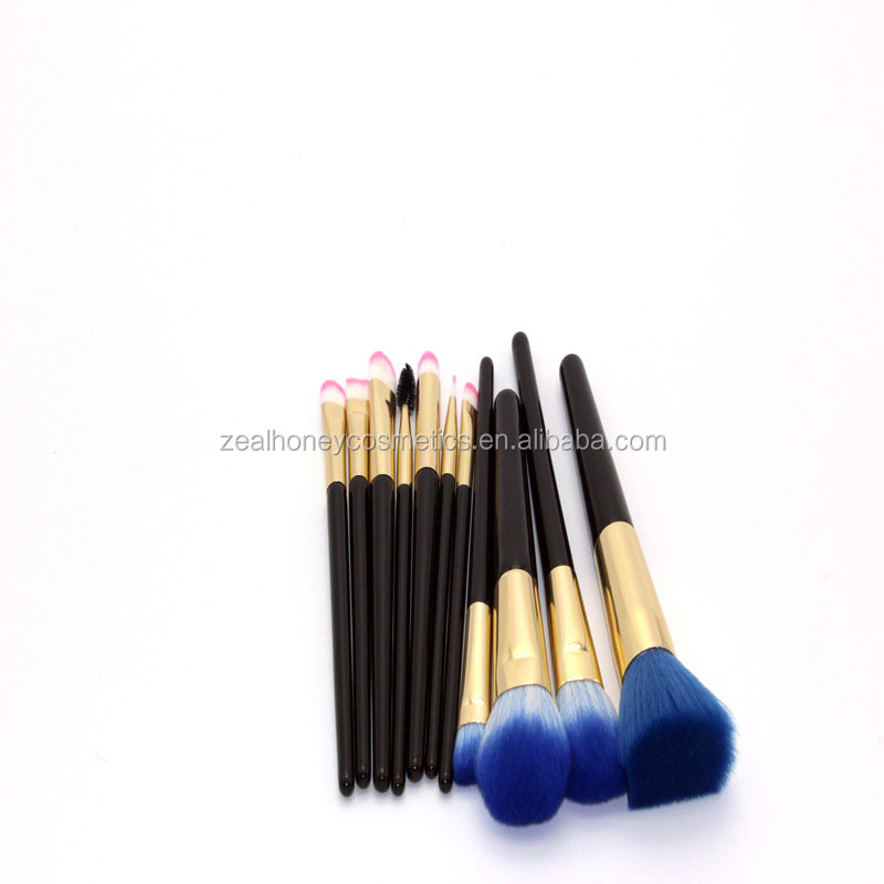 Synthetic Hair Affordable Makeup Brushes 11Piece Lot Best Cosmetic Brush Sets Black Wood Handle Cheap Cosmetic Brushes