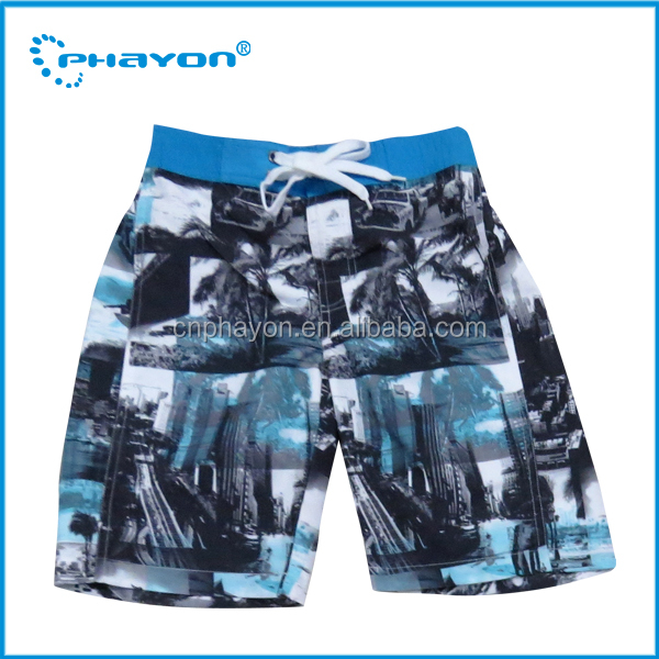 New trend custom wholesale boardshorts swim boy shorts young boys swimwear unique design for you