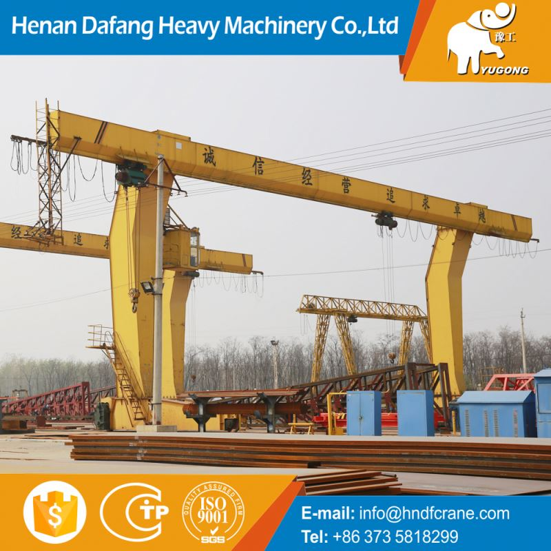 Good Condition 5 Ton Hoist Safe Driving Gantry Crane Suppliers L Leg With Trolley 100 Ton