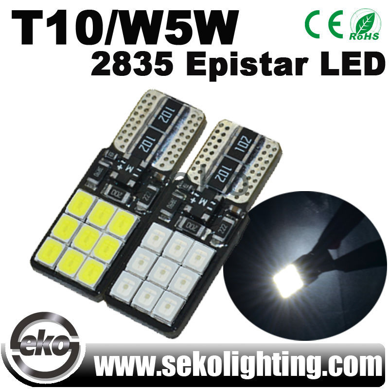 18smd 2835 Epistar LED T10 W5W led door logo laser projector light for car