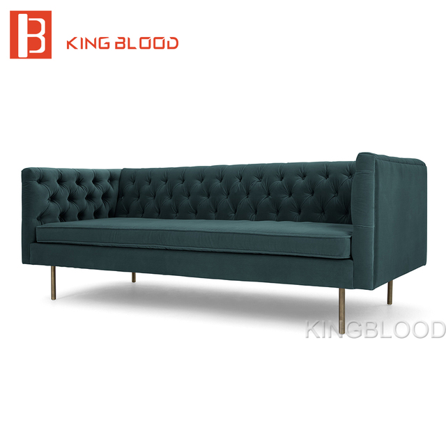 tufted upholstered velvet fabric chesterfield design sofa