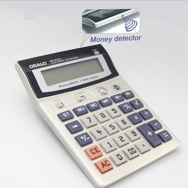 OS-2000 OEM wholesale Money d-etector calculator with led backlight