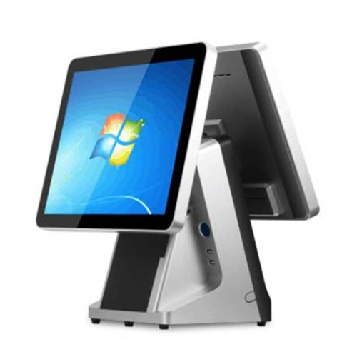 15 inch double screen flat capacitive touch screen pos terminal built in MSR and 58 80 mm thermal printer.jpg