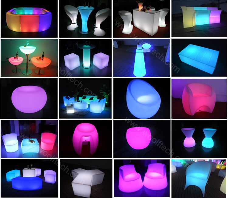 Hot Color Changing Led Table Light Up Furniture Outdoor