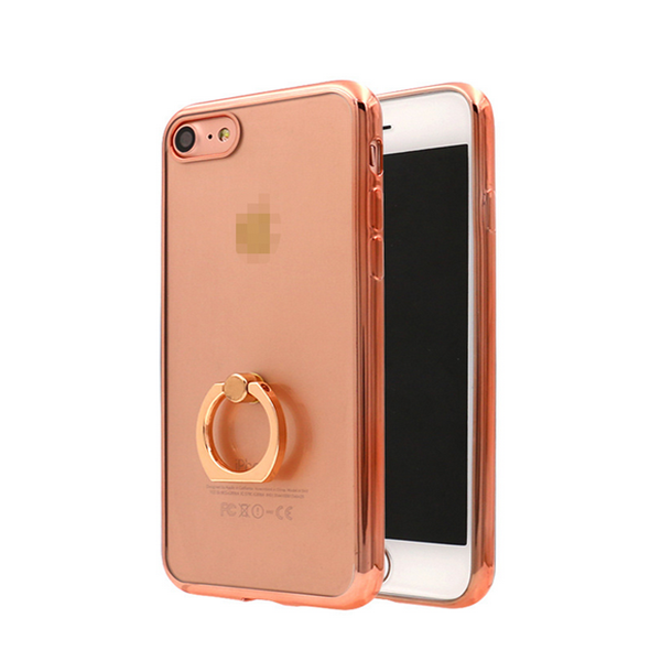 2017 hot selling ring bucklue plating TPU case for iphone 7