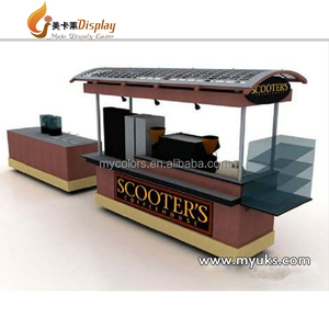 Hot sale wood scooter fast food cart for coffee cart design