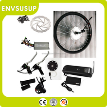 small cute power 250w electric front wheel bike conversion kit with battery