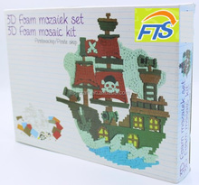 3D Foam Mosaic PirateShip Kit for Kids Craft and Toys