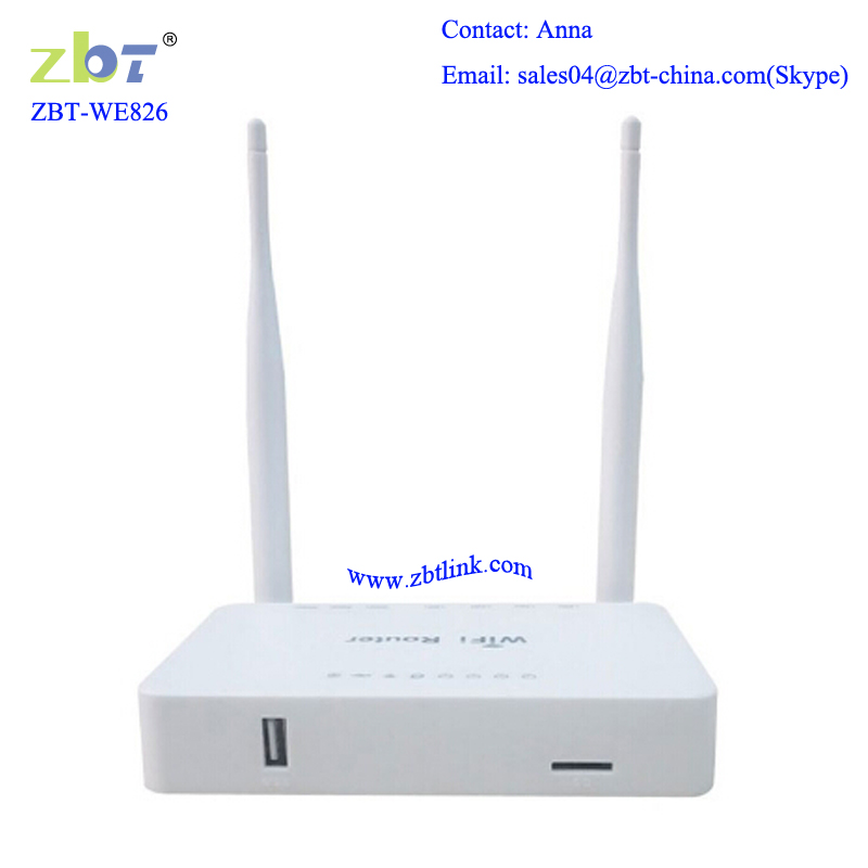 Two external antenna openWRT 3g router with internal sim card slot