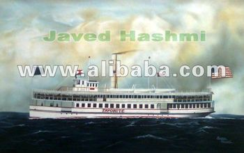 Replica Of Ship Painting By Javed Hashmi