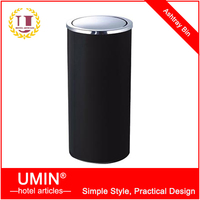 Black Swing Top Waste Bin