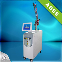 1064nm & 532nm nd yag laser pigment reduce device& tattoo removal& skin rejuvenation with top hat mode