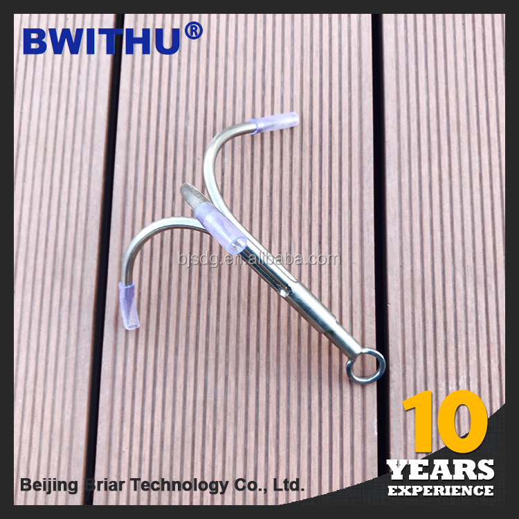 New arrival product three Claw 8mm Screw Nut fish barbed stainless hook
