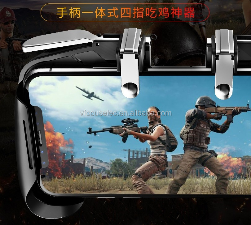 Colorful AK16 Gamepad for PUBG Gaming L1R1 Trigger Fire Button Shooter Controller For iphone Android Phone Gaming Joystick