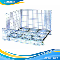 "32"" W x 18"" x 22"" H Silver WIRE Collapsible Bin Container"