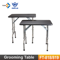 FT-818/FT-819 Stainless Steel Folding Height Adjustable Pet Show Tables for Dog Grooming