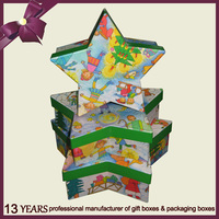 Christmas star gift and craft paper packing box