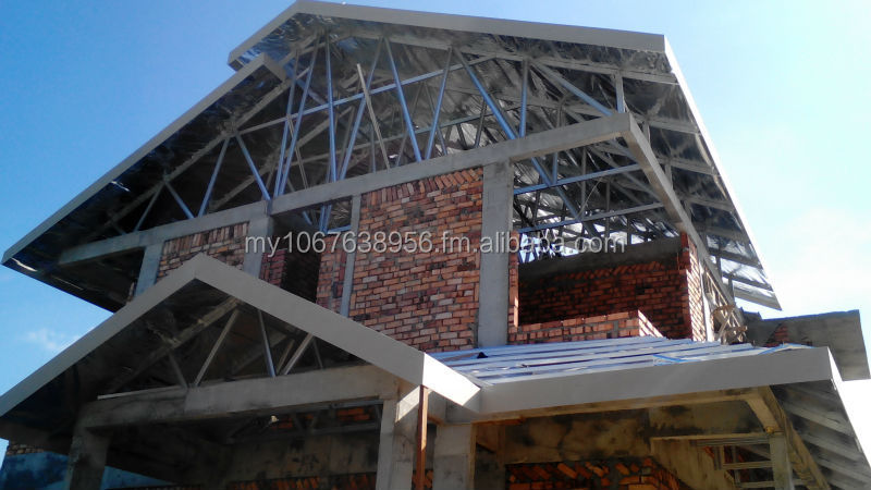 lightweight steel roof truss