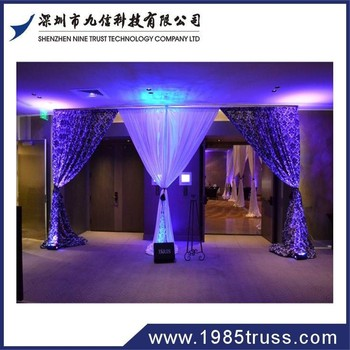 wedding aluminum backdrop stand pipe drape,pipe and drape wedding backdrop