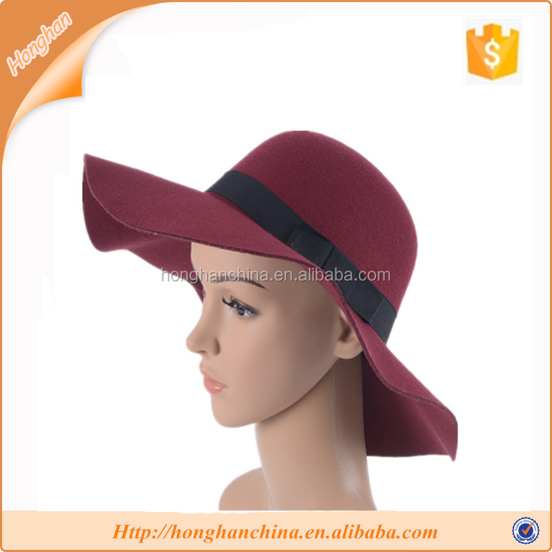Upscale aristocratic British style big-brimmed floppy hat