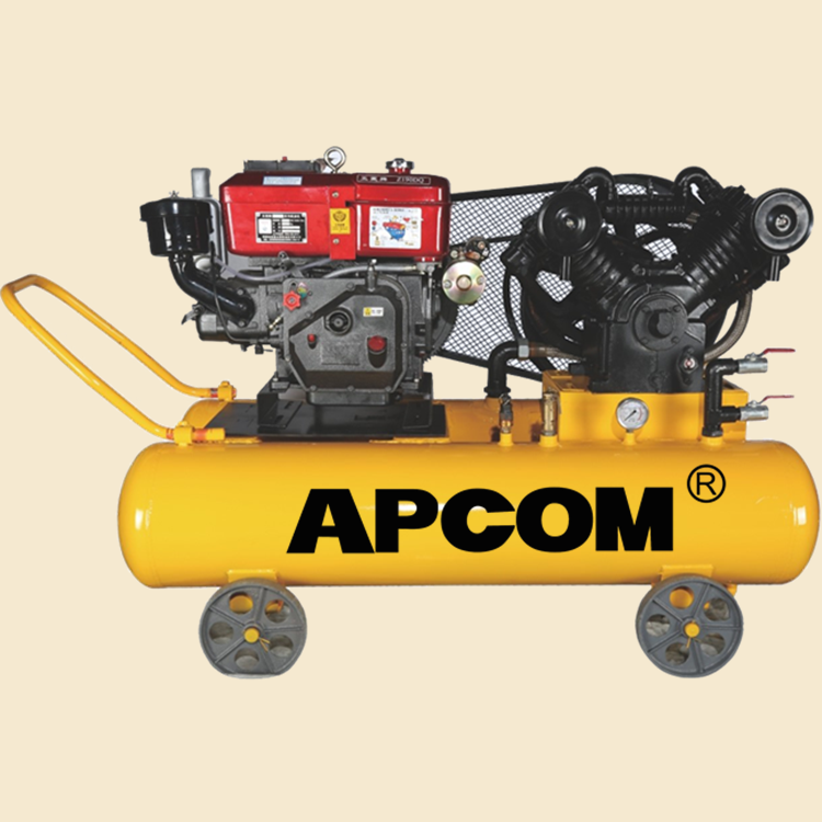 AV10016 10hp 16bar 35CFM <strong>100</strong> liter automobile tire inflation portable diesel air compressor