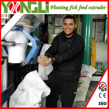 YONGLI BRAND good quality homemade 5t/h floating fish feed line