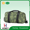 Homey Wholesale Waterproof 600D Polyester Camouflage Customized Travel duffle bag canvas duffle bag